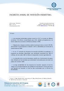 ENCUESTA ANUAL DE INVERSIÓN INDUSTRIAL 1