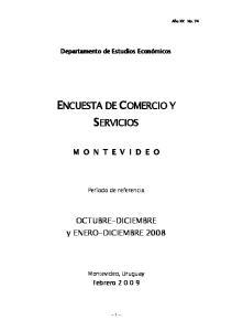 ENCUESTA DE COMERCIO Y SERVICIOS