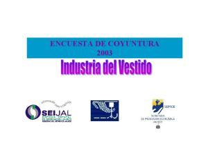 ENCUESTA DE COYUNTURA 2003