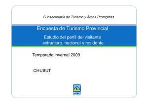 Encuesta de Turismo Provincial