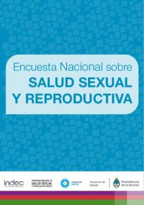 Encuesta Nacional sobre SALUD SEXUAL Y REPRODUCTIVA