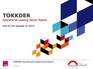 End of 3rd Quarter of TOKKDER Operational Leasing Sector Report