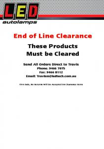 End of Line Clearance