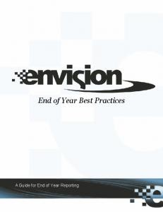 End of Year Best Practices