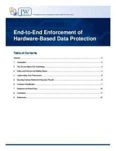 End-to-End Enforcement of Hardware-Based Data Protection