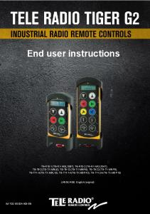 End user instructions