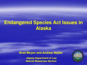 Endangered Species Act Issues in Alaska