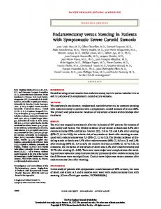 Endarterectomy versus Stenting in Patients with Symptomatic Severe Carotid Stenosis