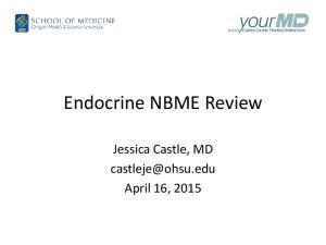 Endocrine NBME Review. Jessica Castle, MD April 16, 2015