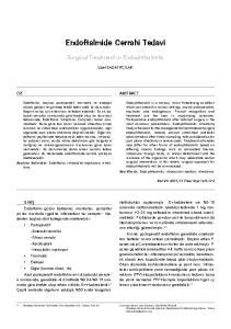 Endoftalmide Cerrahi Tedavi