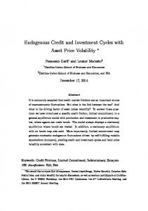 Endogenous Credit and Investment Cycles with Asset Price Volatility