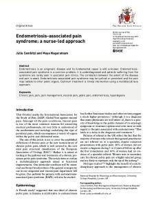 Endometriosis-associated pain syndrome: a nurse-led approach