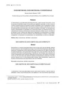 ENDOMETRIOSIS, ENDOMETRIOMA E INFERTILIDAD