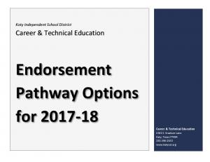 Endorsement Pathway Options for