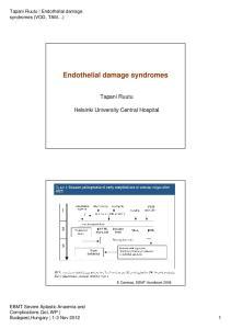 Endothelial damage syndromes