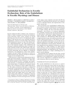 Endothelial Dysfunction in Erectile Dysfunction: Role of the Endothelium in Erectile Physiology and Disease