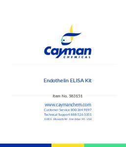 Endothelin ELISA Kit