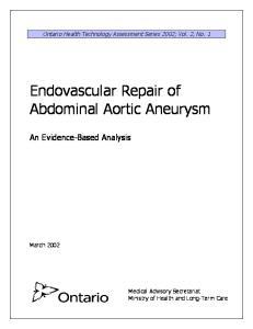 Endovascular Repair of Abdominal Aortic Aneurysm