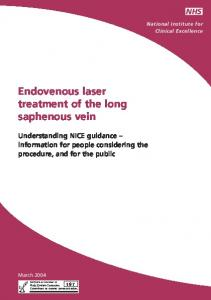 Endovenous laser treatment of the long saphenous vein