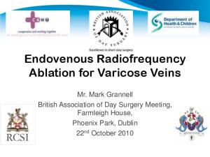 Endovenous Radiofrequency Ablation for Varicose Veins