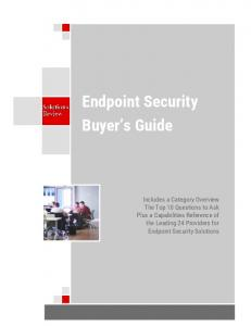 Endpoint Security Buyer s Guide