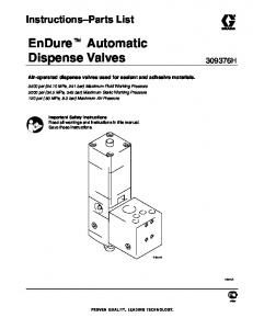 EnDure Automatic Dispense Valves