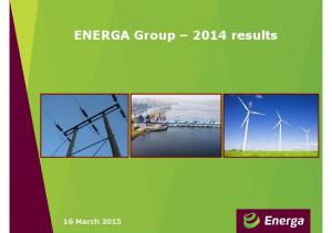 ENERGA Group 2014 results