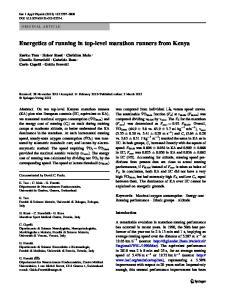 Energetics of running in top-level marathon runners from Kenya