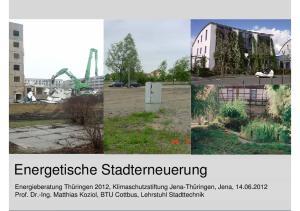 Energetische Stadterneuerung