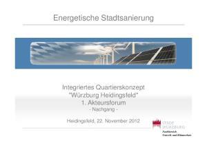 Energetische Stadtsanierung