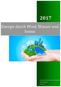 Energie durch Wind, Wasser und Sonne