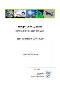 Energie- und CO 2 -Bilanz der Stadt Offenbach am Main. Berichtzeitraum