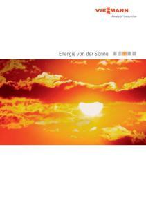 Energie von der Sonne