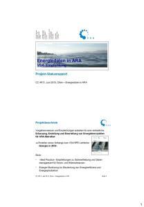 Energiedaten in ARA VSA-Empfehlung
