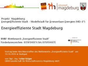Energieeffiziente Stadt Magdeburg