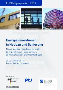 Energieinnovationen in Neubau und Sanierung