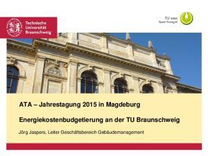 Energiekostenbudgetierung an der TU Braunschweig