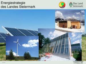 Energiestrategie des Landes Steiermark