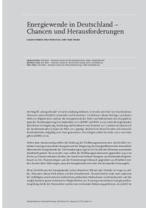 Energiewende in Deutschland Chancen und Herausforderungen