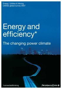 Energy and efficiency*