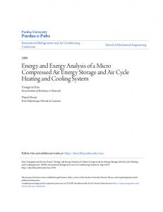 Energy and Exergy Analysis of a Micro Compressed Air Energy Storage and Air Cycle Heating and Cooling System