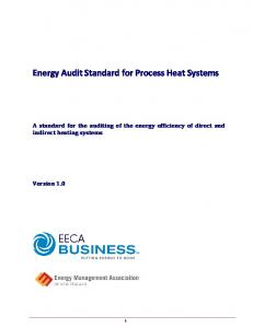 Energy Audit Standard for Process Heat Systems