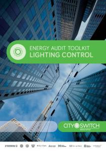 ENERGY AUDIT TOOLKIT LIGHTING CONTROL