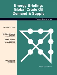 Energy Briefing: Global Crude Oil Demand & Supply