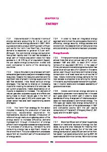 ENERGY CHAPTER 7.3. Energy Scenario