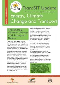 Energy, Climate Change and Transport