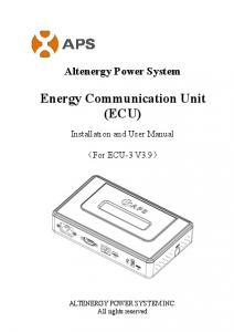 Energy Communication Unit (ECU)