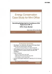 Energy Conservation Case Study for Mini Office