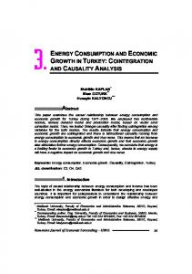 ENERGY CONSUMPTION AND ECONOMIC GROWTH IN TURKEY:COINTEGRATION