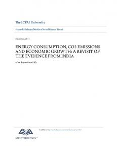 ENERGY CONSUMPTION, CO2 EMISSIONS AND ECONOMIC GROWTH: A REVISIT OF THE EVIDENCE FROM INDIA